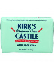Kirks Natural Bar Soap - Coco Castile - Aloe Vera - 4 oz - 1 each