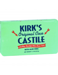 Kirks Natural Bar Soap - Coco Castile - Aloe Vera - Travel Size - 1.13 oz