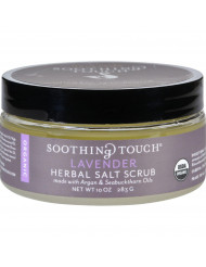 Soothing Touch Scrub - Organic - Salt - Herbal - Lavender - 10 oz