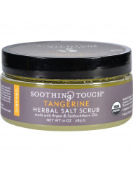 Soothing Touch Scrub - Organic - Salt - Herbal - Tangerine - 10 oz
