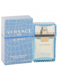 Versace Man Cologne by Versace, 1 oz Eau Fraiche Eau De Toilette Spray (Blue)