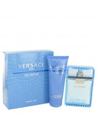 Versace Man by Versace,Gift Set -- 3.3 oz Eau De Toilette Spray (Eau Frachie) + 3.3 oz Shower Gel, For Men