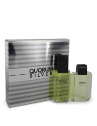 Quorum Silver Cologne by Puig, Gift Set - 3.4 oz Eau De Toilette Spray + 3.4 oz After Shave