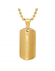 "18k Gold Plated Our Father Prayer Pendant, Pendant Comes On 24"" Chain"