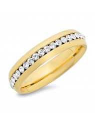 18k gold plated simulated diamonds wedding band ring