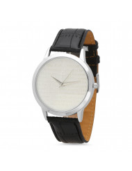 """18k White Gold Plated """"our Father"""" Prayer Watch"""