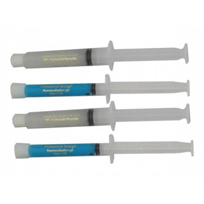2- 10ml 16% HP syringes and 2- 3ml remineralization Gels