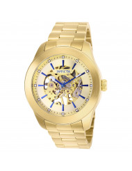 Invicta Men's 25759 Vintage Mechanical 3 Hand Gold Dial Watch