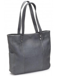 Double Strap Rivet Tote - LD-2000-Gry