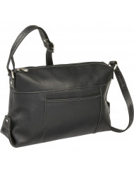Top Zip Frnt Slip Shoulder Bag - LD-7006-BL
