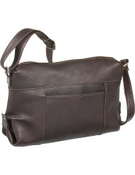 Top Zip Frnt Slip Shoulder Bag - LD-7006-Cafe