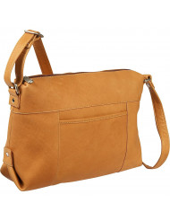 Top Zip Frnt Slip Shoulder Bag - LD-7006-TN