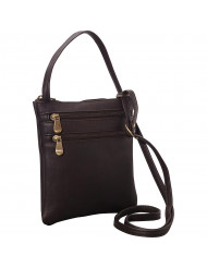 Two Zip Crossbody Minibag - T-76-R-Cafe