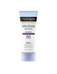 Neutrogena Ultra Sheer Dry-Touch Sunscreen Lotion, Broad Spectrum Spf 55 Uva/Uvb Protection, Light, Water Resistant, Non-Comedogenic & Non-Greasy, Travel Size, 3 Fl. Oz