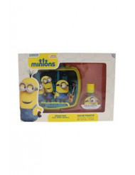 Minions by Minions for Kids - 2 Pc Gift Set 1.02oz EDT Spray, And Snack Box