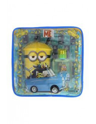 Minions by Minions for Kids - 3 Pc Gift Set 1.7oz EDT Spray, Plasti Cup With Straw, Toiletry Bag
