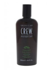 3-In-1 Tea Tree Shampoo & Conditioner & Body Wash by American Crew for Men - 8.4 oz Shampoo & Conditioner & Body Wash