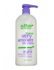 Very Emollient Body Lotion Unscented by Alba Botanica for Unisex - 32 oz Lotion