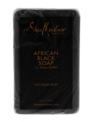 African Black Soap Bar Acne Prone & Troubled Skin by Shea Moisture for Unisex - 8 oz Bar Soap