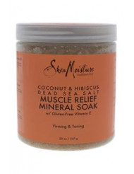Coconut & Hibiscus Dead Sea Salt Muscle Relief Mineral Soak by Shea Moisture for Unisex - 20 oz Scrub