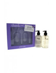Thank You by Philosophy for Unisex - 2 Pc Set 2 x 8oz Fresh Cream Hand Wash & Hand Lotion
