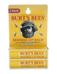 Beeswax Lip Balm Twin Pack by Burt's Bees for Unisex - 2 x 0.15 oz Lip Balm