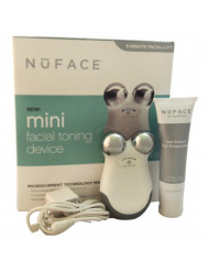 Nuface Mini Facial Toning Device - White Nuface Nuface Mini Device, 2oz Gel Primer - All Skin Types, Power Adapter, User Manual for Unisex 3 Pc Kit
