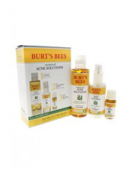 Natural Acne Solutions 3 Step Regimen Kit by Burt's Bees for Unisex - 3 Pc Kit 5oz Purifying gel Cleanser, 2oz Daily Moisturizing Lotion, 0.26oz Targeted Spot Treatment