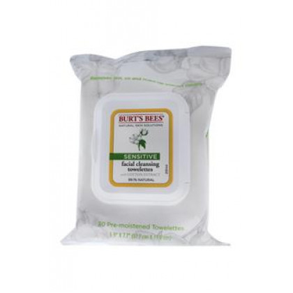 Facial Cleansing Towelettes Sensitive by Burt's Bees for Unisex - 30 Pc Towelettes