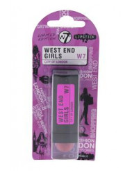 West End Girls City Of London - Shopaholic by W7 for Women - 0.1 oz Lipstick