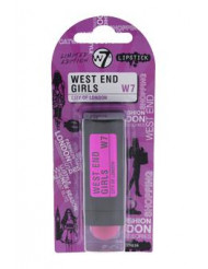 West End Girls City Of London - Fuchsia by W7 for Women - 0.1 oz Lipstick