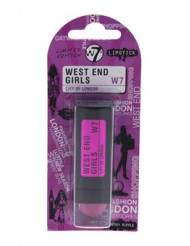 West End Girls City Of London - Raspberry Ripple by W7 for Women - 0.1 oz Lipstick
