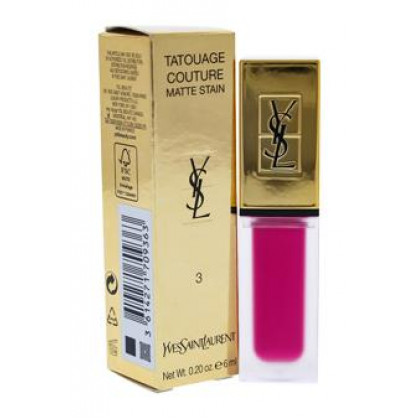 Tatouage Couture Liquid Matte Lip Stain - # 3 Rose Ink by Yves Saint Laurent for Women - 0.2 oz Lip Gloss