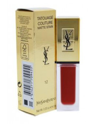 Tatouage Couture Liquid Matte Lip Stain - # 12 Red Tribe by Yves Saint Laurent for Women - 0.2 oz Lip Gloss