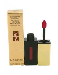 Rouge Pur Couture Vernis A Levres Glossy Stain - # 11 Rouge Gouache by Yves Saint Laurent for Women - 0.2 oz Lip Gloss