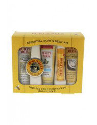 Essential Burt's Bees Kit by Burt's Bees for Women - 5 Pc Kit 1oz Body Lotion with Milk & Honey, 0.3oz Hand Salve, 0.75oz Soap Bark & Chamomile Deep Cleansing Cream, 0.75oz Coconut Foot Cream, 0.15oz Beeswax Lip Balm with Vitamin E & Peppermint