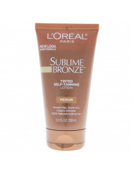 Sublime Bronze Tinted Self-Tanning Lotion - Medium L'Oreal Paris Lotion for Women 5 oz