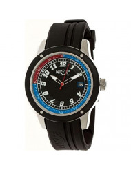 Simplify The 6200 Leather-Strap Watch - Black/Silver