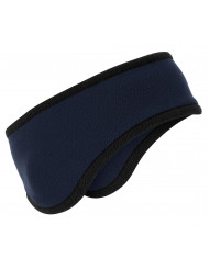 Port Authority 174 Two-Color Fleece Headband. C916 OSFA Navy