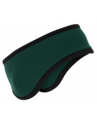 Port Authority 174 Two-Color Fleece Headband. C916 OSFA Dark Green