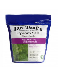 DR. TEAL'S EPSOM SALT FOOT SOAK REVITALIZE & REFRESH WITH COOLING PEPPERMINT 2 LBS.