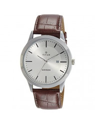 Titan Silver White Dial Analog with Date