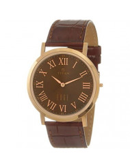 Brown Dial Leather Strap Watch