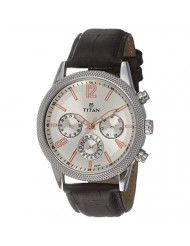 Titan Neo Silver Dial Multifunction Watch for Men