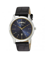 Titan Neo Blue Dial Analog Watch for Men