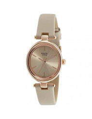 Rose Gold Dial Stainless Steel Strap Watch