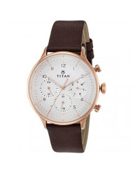 Titan On Trend White Dial Multifunction Watch for Men
