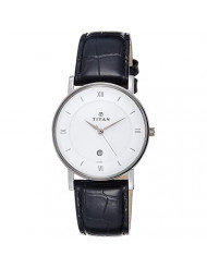 Titan Classique White Dial Analog Watch for Men