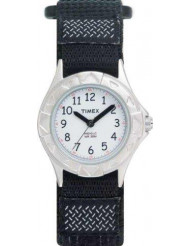 Timex Kids My First Timex Stainless Steel Watch with Black Canvas Band