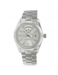 Silver Day/Date Classic Mens Executive Style Watch